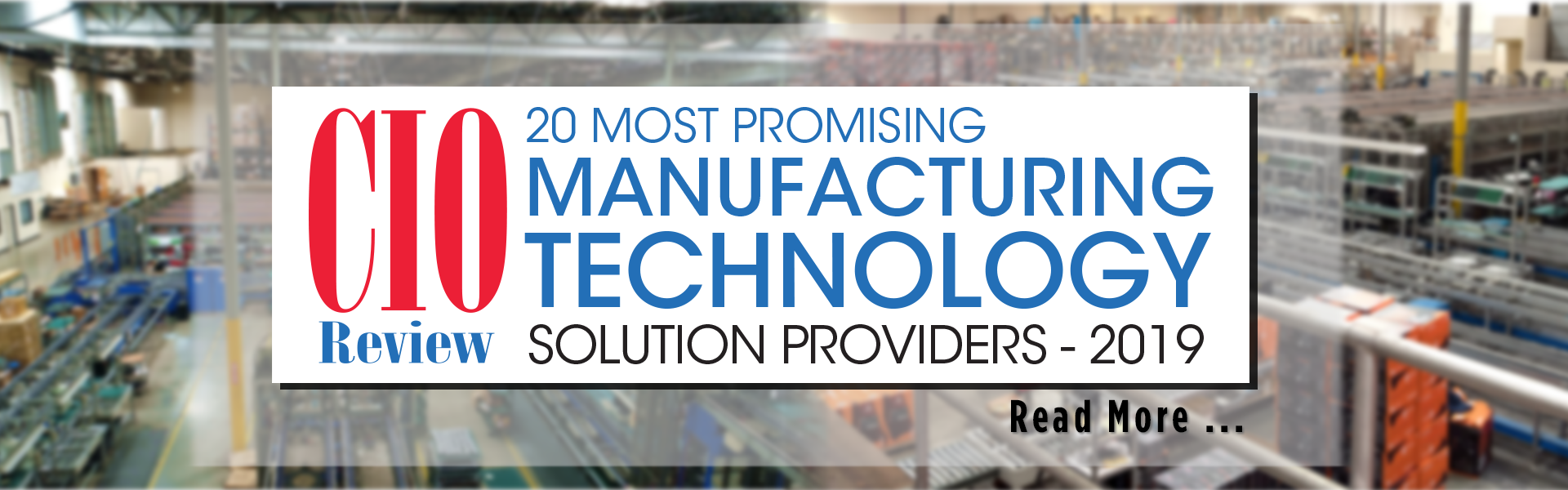 Premio Inc. Named Among CIOReview's 20 Most Promising Manufacturing Solution Providers for 2019