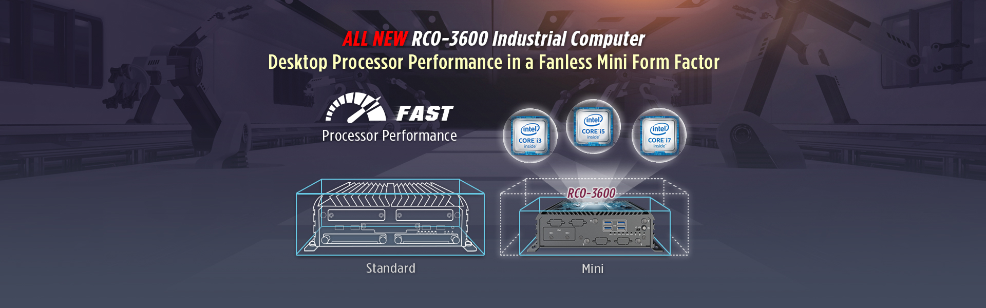 RCO-3600 Compact Performance Industrial Computer